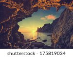 Vintage Sea Sunset From The...