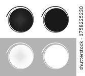 glued blank stickers. vector...   Shutterstock .eps vector #1758225230