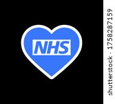 blue love thank you nhs... | Shutterstock .eps vector #1758287159