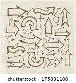 sketch arrow collection for... | Shutterstock .eps vector #175831100