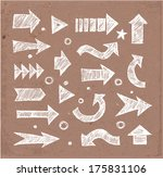 sketch arrow collection for... | Shutterstock .eps vector #175831106