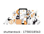 the concept of investment and...   Shutterstock .eps vector #1758318563
