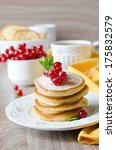 pancakes with berries | Shutterstock . vector #175832579