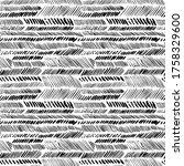 herringbone brush strokes... | Shutterstock .eps vector #1758329600