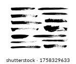vector grungy paint brush... | Shutterstock .eps vector #1758329633