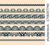 ornamental borders for unique... | Shutterstock .eps vector #1758357740