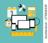 modern flat icon set for web... | Shutterstock .eps vector #175836539