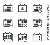 vector icon calendar with notes | Shutterstock .eps vector #175836980