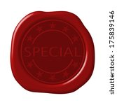 special word in star circle on... | Shutterstock . vector #175839146