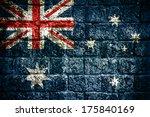 flag of australia painted onto... | Shutterstock . vector #175840169