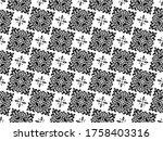 flower geometric pattern.... | Shutterstock . vector #1758403316