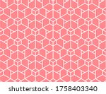 the geometric pattern with... | Shutterstock . vector #1758403340