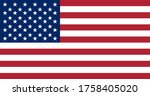 vector image of the usa flag in ...   Shutterstock .eps vector #1758405020