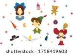 Peter Pan Fairy Tale Flat Style ...