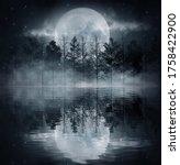 Dark Cold Futuristic Forest....