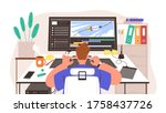 guy animator at creation... | Shutterstock .eps vector #1758437726