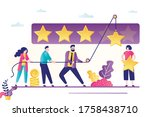 people use rope and raise stars.... | Shutterstock .eps vector #1758438710