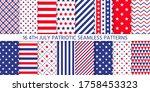 4th july seamless pattern.... | Shutterstock .eps vector #1758453323