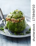 stuffed filled courgette | Shutterstock . vector #175846910