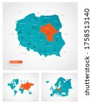 editable template of map of... | Shutterstock .eps vector #1758513140