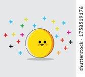 flat orange cartoon or yellow... | Shutterstock .eps vector #1758519176