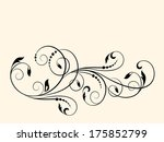 floral pattern with decorative... | Shutterstock .eps vector #175852799