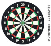 Darts Board Isolated On White...