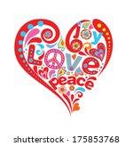 hippie heart   Shutterstock .eps vector #175853768