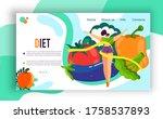 healthy diet lifestyle vector...   Shutterstock .eps vector #1758537893