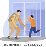 character military person... | Shutterstock .eps vector #1758537923