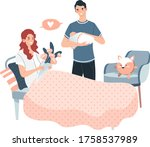 postpartum medical ward  lovely ...   Shutterstock .eps vector #1758537989