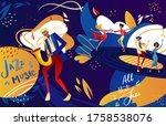 jazz festival dance party... | Shutterstock .eps vector #1758538076