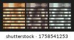 metal gradient. color set.... | Shutterstock .eps vector #1758541253