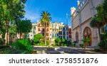 View of beautiful old town of Palma de Majorca, Spain, Europe, Balearic Islands, Mallorca