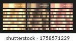 metal gradient. color set.... | Shutterstock .eps vector #1758571229