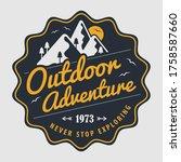 outdoor adventure design... | Shutterstock .eps vector #1758587660