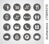 shopping mall icons set | Shutterstock .eps vector #175859270