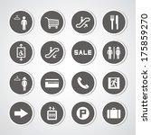 shopping mall icons set | Shutterstock .eps vector #175859270