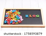 Blog In Colored Text Next To A...