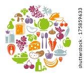 vector illustration of healthy... | Shutterstock .eps vector #175859633