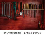 Tools In Carpenter With Grunge...