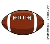 american football ball | Shutterstock .eps vector #175862144