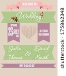 wedding card | Shutterstock .eps vector #175862348