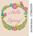 hello spring | Shutterstock .eps vector #175862354