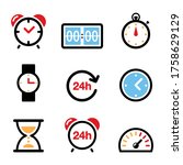 time  clock vector color icons... | Shutterstock .eps vector #1758629129