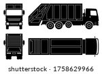Garbage Truck Silhouette On...