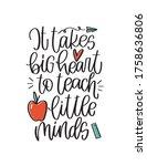 teacher quote vector design... | Shutterstock .eps vector #1758636806