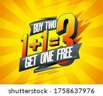 buy two get one free  vector...   Shutterstock .eps vector #1758637976