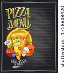 pizza menu display on a...   Shutterstock .eps vector #1758638420