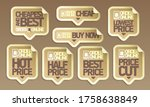 order online price tags...   Shutterstock .eps vector #1758638849